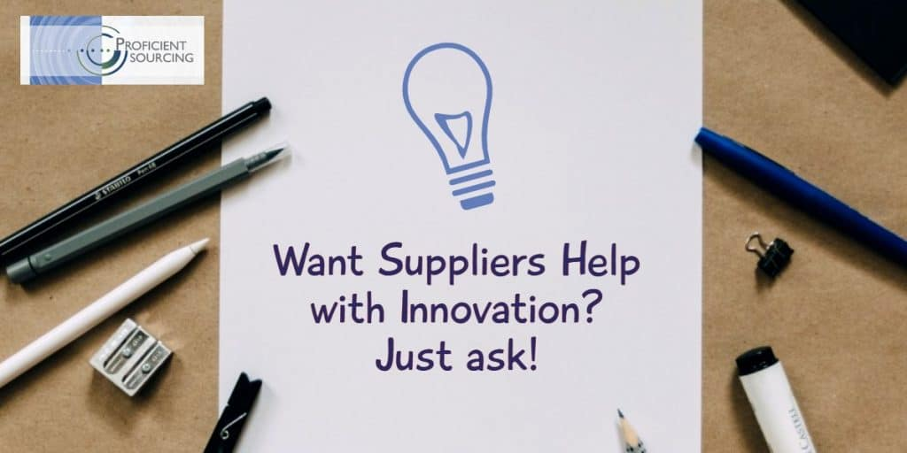 Want Suppliers Help with Innovation? Just ask!