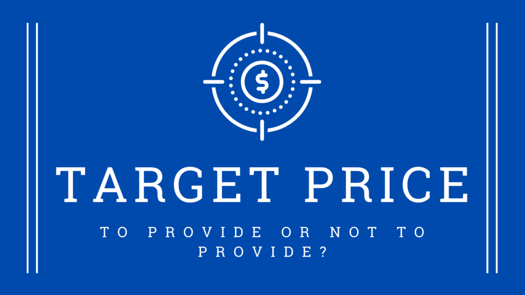 Target Price: To Provide Or Not To Provide?